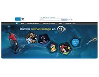 Landing page banner animation- Belgacom