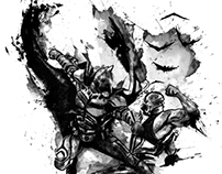 Drawing Ink,  Batman the dark knight rises