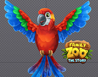 Animation of Parrot for Family Zoo: The Story