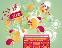 Music vector illustrations