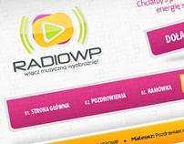 Projekt strony dla internetowej stacji radiowej.