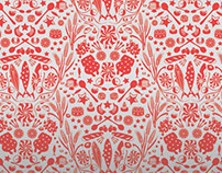 Delicacies and vitals fabric and wallpaper design