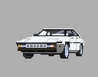 The car series (Pixel Art)