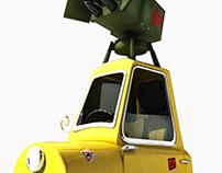 3D test - rocket car