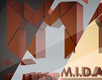 M.I.D.A.S 3D typography logo