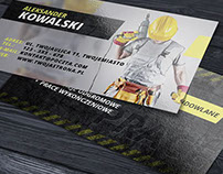 Business card for renovation and construction company