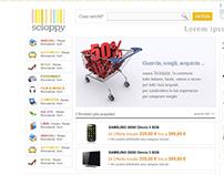 Scioppy | bozze per il restyling sito ecommerce | 2012