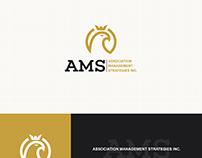 Minimalist logo representing an eagle