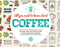 Awesome Coffee Icons and Logo Set