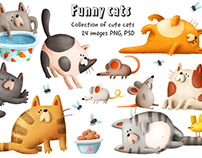 Funny cats collection
