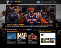 Web Design: Carmelo Anthony Template