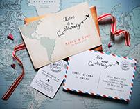 WEDDING INVITATION AND DECO