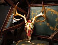 Botanica Genuine Deer Skull Sculpture