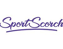 Sportscorch | Logo design | Sports Website | Typography