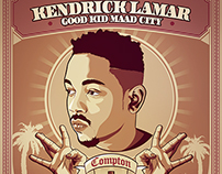 KENDRICK LAMAR - Good Kid MAAD City Poster