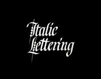 Italic Lettering / Курсивное письмо