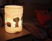 Korean tale  night lamp.
