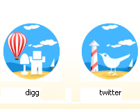 Social Icons for Vacation