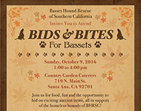 Bids & Bites for Bassets Event Collateral - 2016