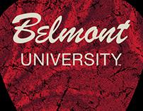 Belmont University Guitar Pick T-Shirt