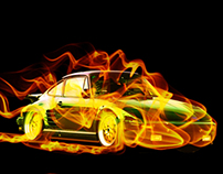 Porsche on Fire