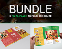 Pizza Place Trifold Brochure Bundle