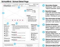 SchoolBird.org Wireframes
