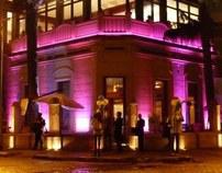 Iluminación LED. Salón de fiestas Juana Azurduy