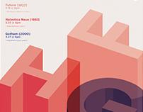 Typographic Poster Studies