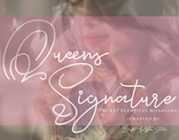 Free Queens Signature Handwritte Font