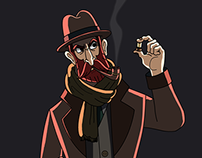 Private detective, character design.