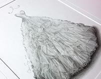 'Fiona' - Wedding Dress Illustration