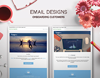 Onboarding customers - email designs