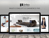 Umbra - Furniture & Interior PSD Template