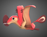 3D - Pterosaur Animation