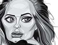 Adele Caricature | Ipad Pro Art