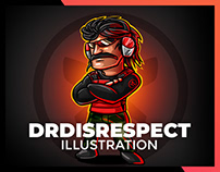 DRDISRESPECT Character Illustration