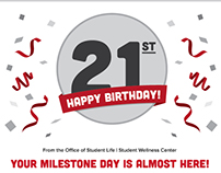 Student Wellness Center | 21st Birthday Email
