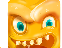 Icon design Mostro naranja