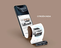 Citroen India Website Design