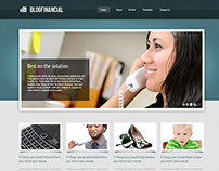 BlogFinacial Website Template