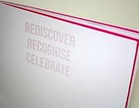Editorial Design- Rediscover, Recognise, Celebrate