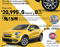 FIAT 500X Retail campaign 2018
