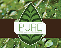 Pure tea - logo and packaging