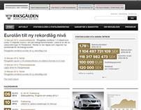 Riksgälden - redesign 2012