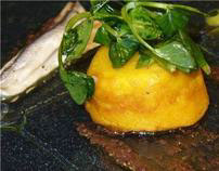 White Anchovie and Pumpkin Souffle