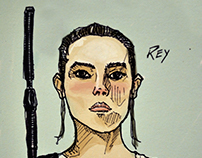 Star Wars Rey Quick Drawing