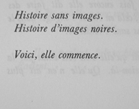 Histoire sans images. Histoires d'images noires.