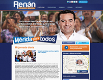 Website Renán Barrera Alcande de Mérida