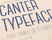The FREE Canter Typeface with 6 Fonts